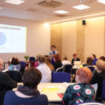 Liia Hänni kõnelemas 8. märtsil 2019 seminaril Tartus