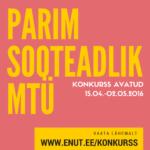 """Konkurss """"Parim sooteadlik MTÜ"""" 2016 nüüd avatud"""